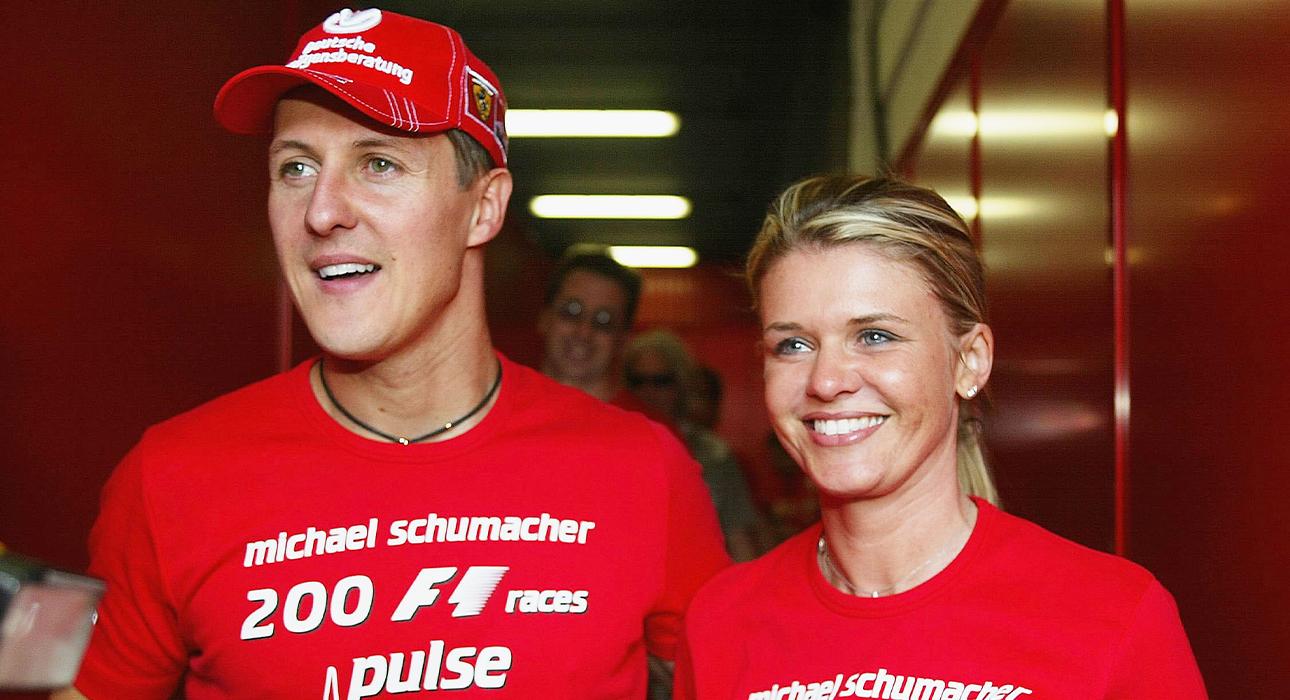 Михаэль Шумахер и супруга Коринна Шумахер