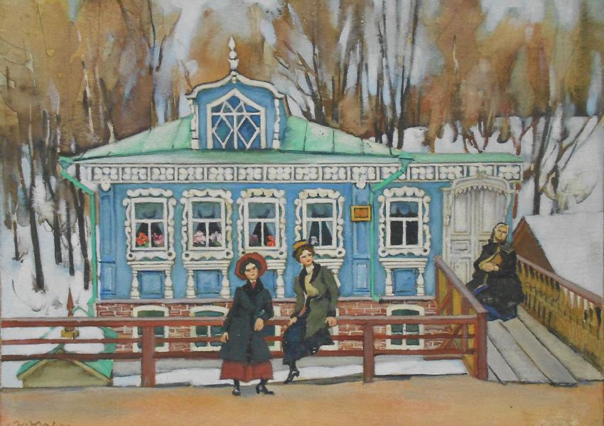 Юон К. Провинциалки. 1920-1922. Дальневосточный художественный музей, Хабаровск