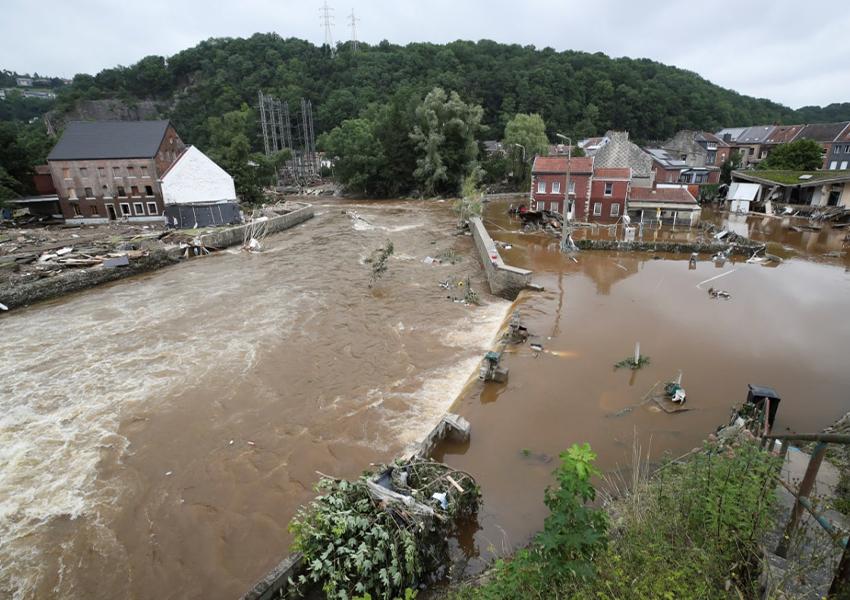 Коммуна Пепенстер, пострадавшая от наводнений после сильных ливней, Бельгия, 16 июля 2021 года