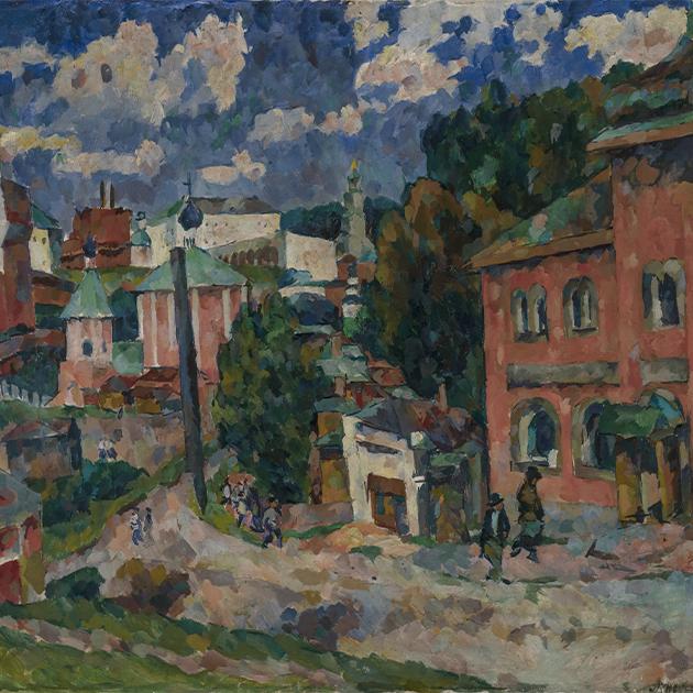 Лентулов А. Сергиев Посад. 1921. Национальная галерея Армении, Ереван