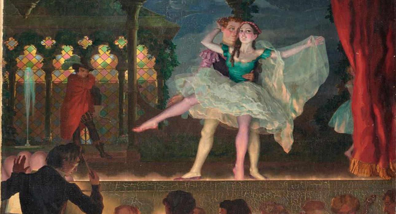 Сомов К. Старый балет. 1923. Частное собрание, Европа