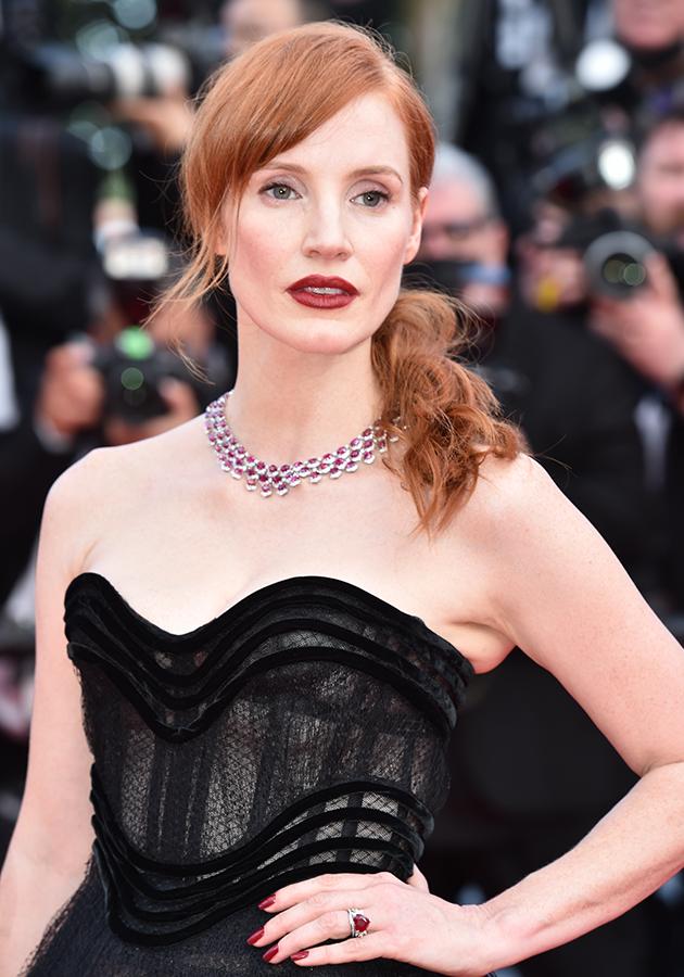 Джессика Честейн в украшениях Chopard и платье Dior Couture