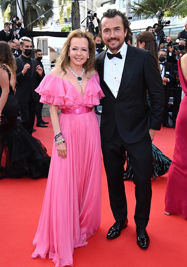 Каролина Шойфеле в украшениях Chopard и в платье Yanina Couture