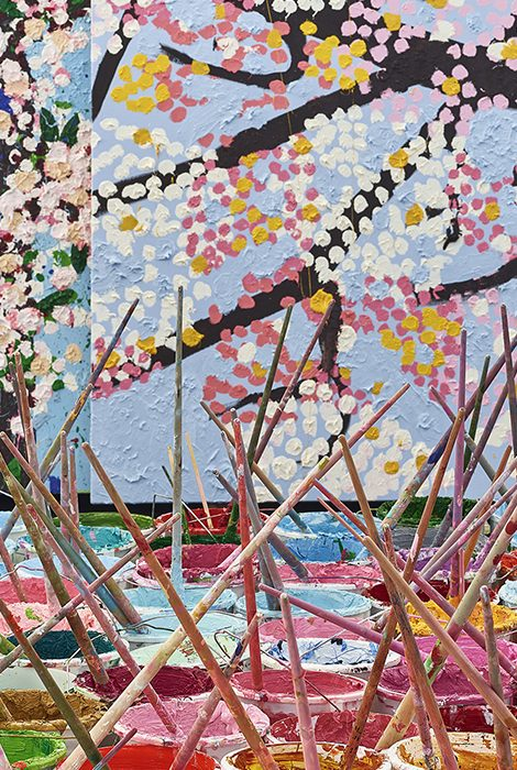 Cherry Blossoms: первая музейная выставка Дэмиена Херста в Париже