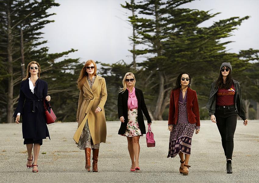 Лора Дерн, Николь Кидман, Риз Уизерспун, Зои Кравиц, Шейлин Вудли в сериале «Большая маленькая ложь»