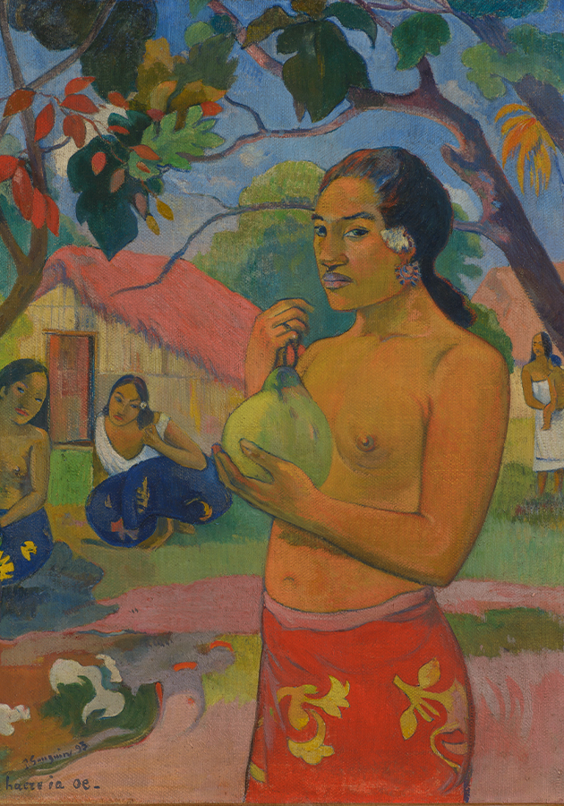 Поль Гоген. Женщина, держащая плод. 1893