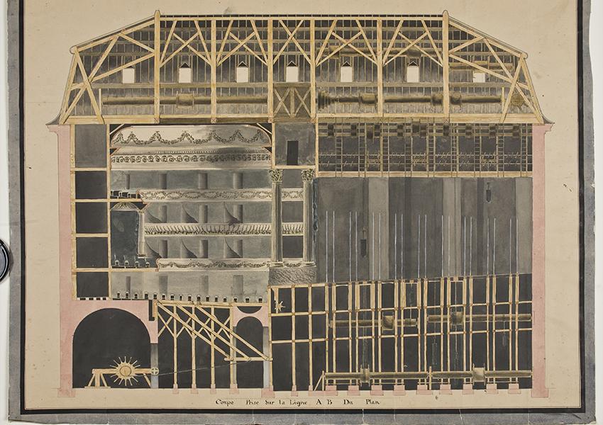 Продольный разрез театра 1780-е