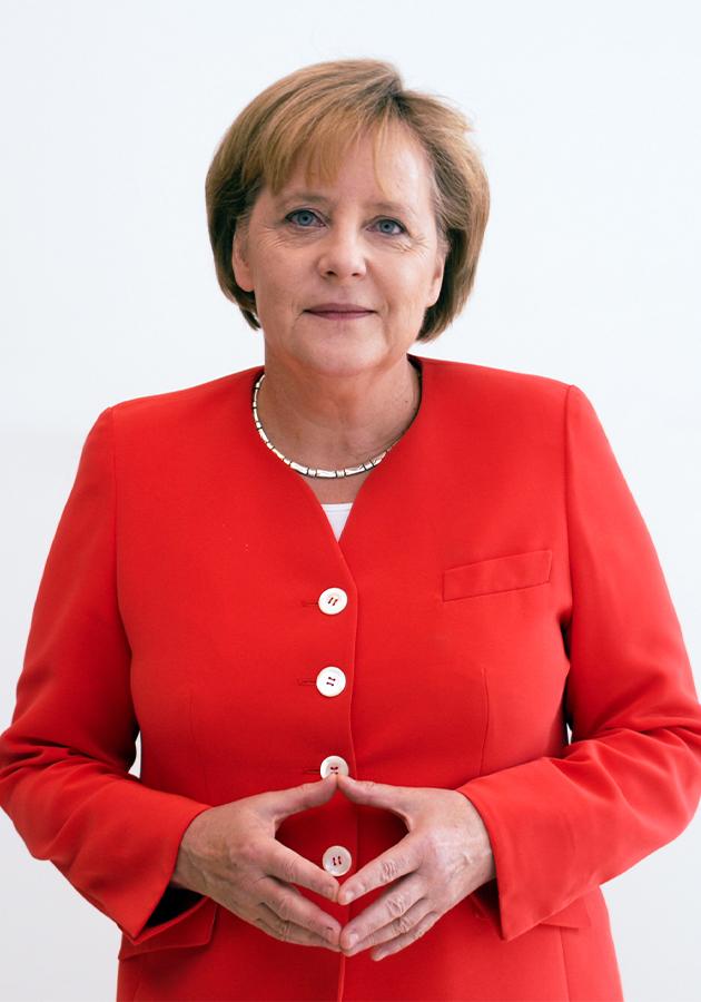 Ангела Меркель образует так называемый «ромб Меркель»