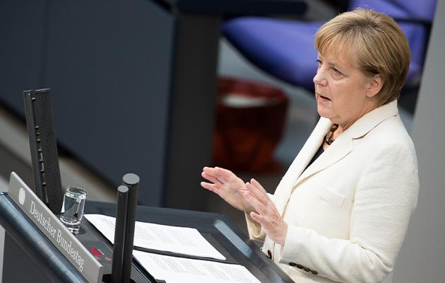 Ангела Меркель в Бундестаге Германии (2014)