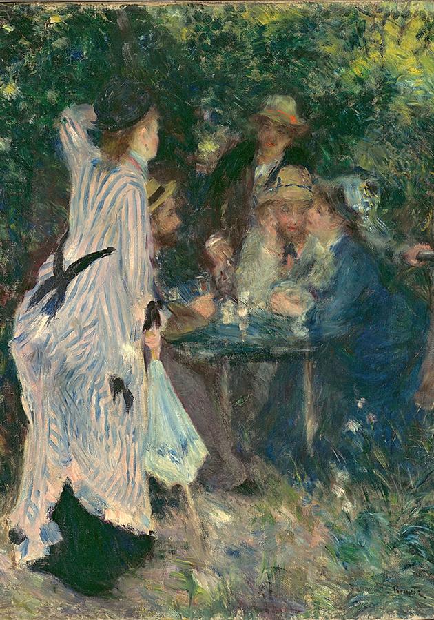 Огюст Ренуар. В саду. Под деревьями Мулен-де-ла-Галетт. 1876