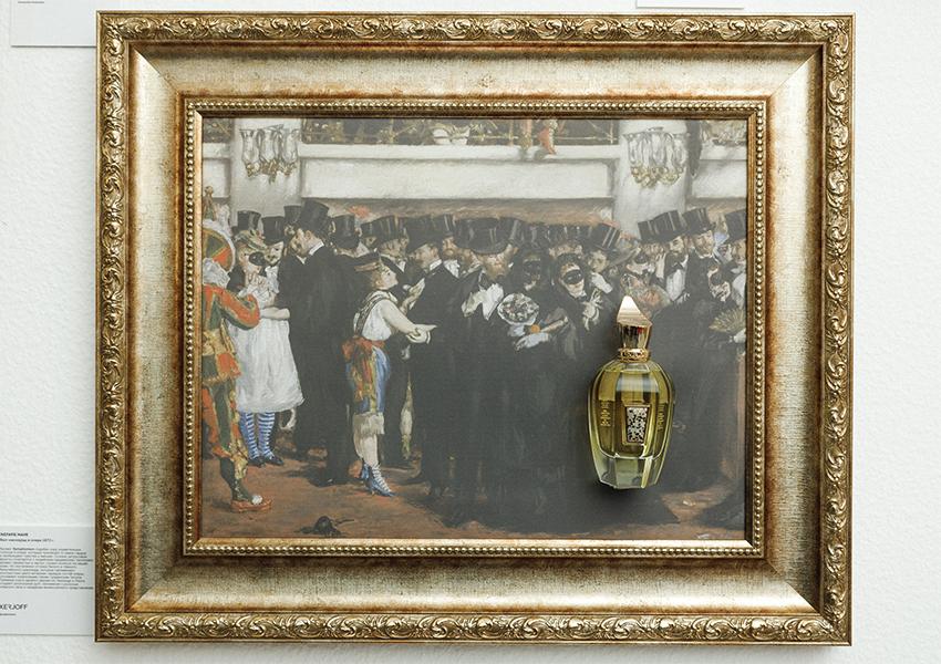 Аромат Symphonium от Xerjoff на фоне картины Эдуарда Мане «Бал-маскарад в Опере»
