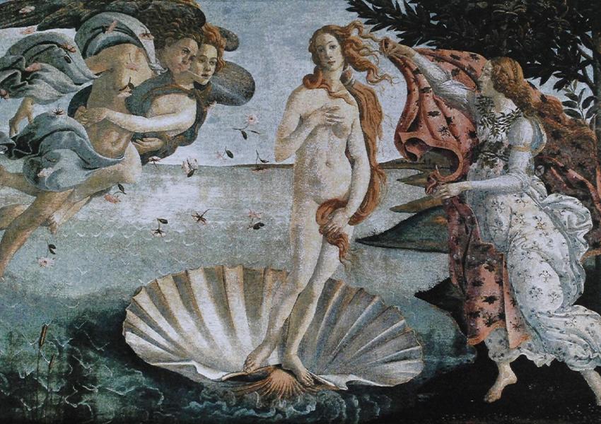 «Рождение Венеры». Сандро Боттичелли. Около 1485