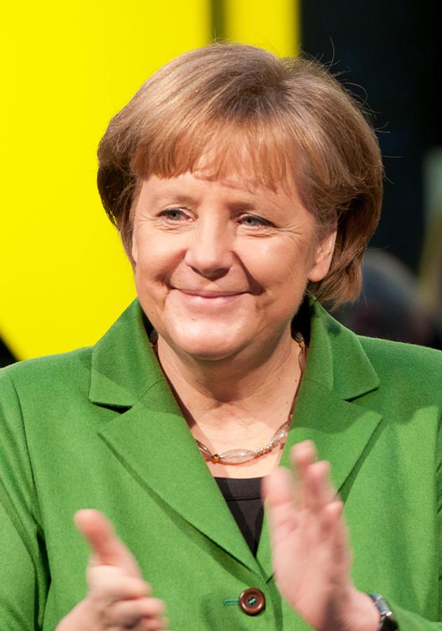 Ангела Меркель на открытии выставки CeBIT (2012)