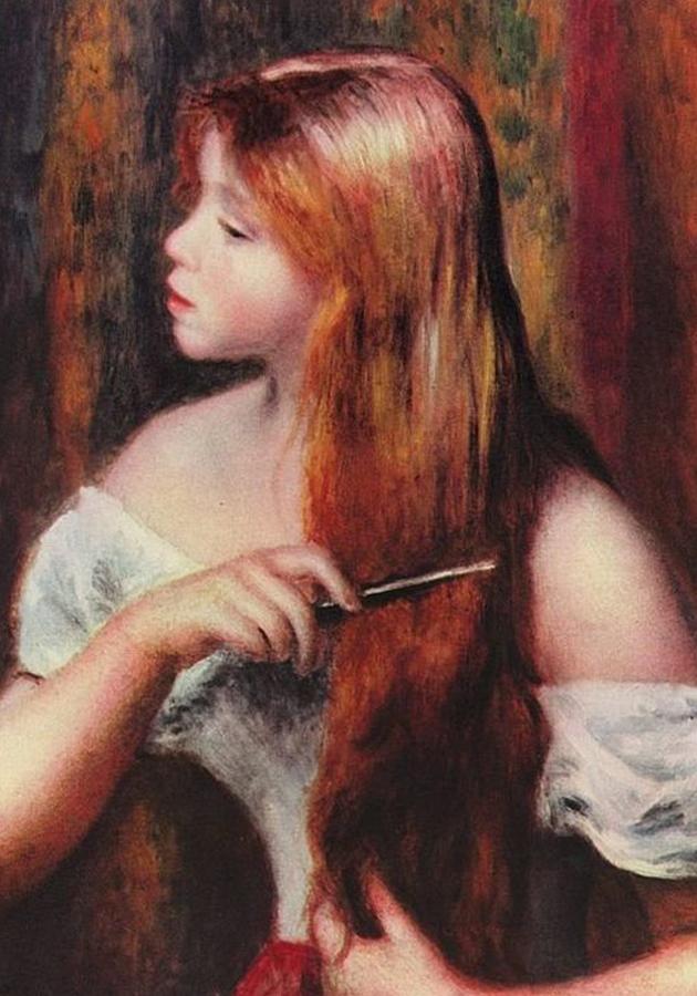 «Причесывающаяся». Пьер Огюст Ренуар. 1894