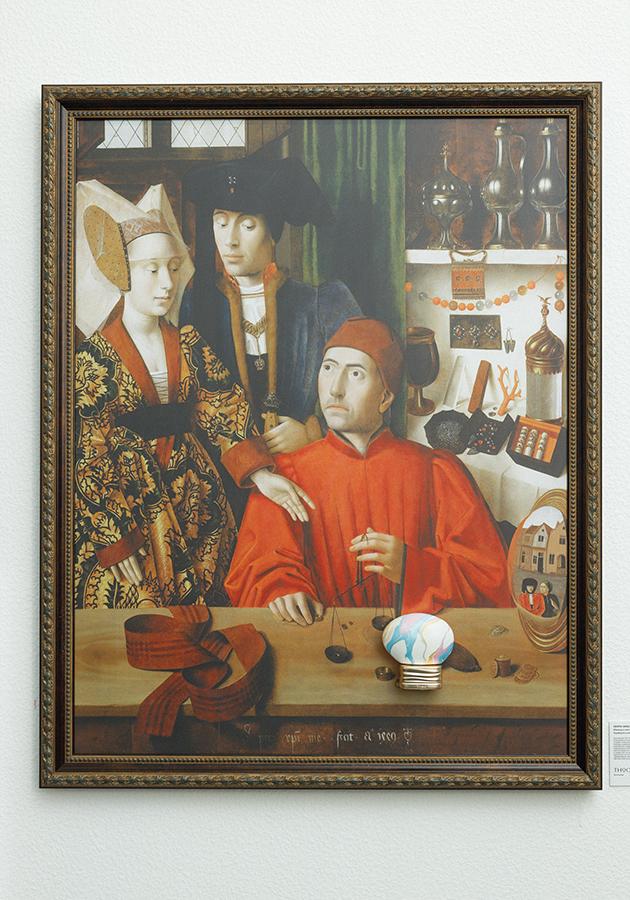 Аромат THOO Neverending на фоне картины Петруса Кристуса «Ювелир в мастерской»