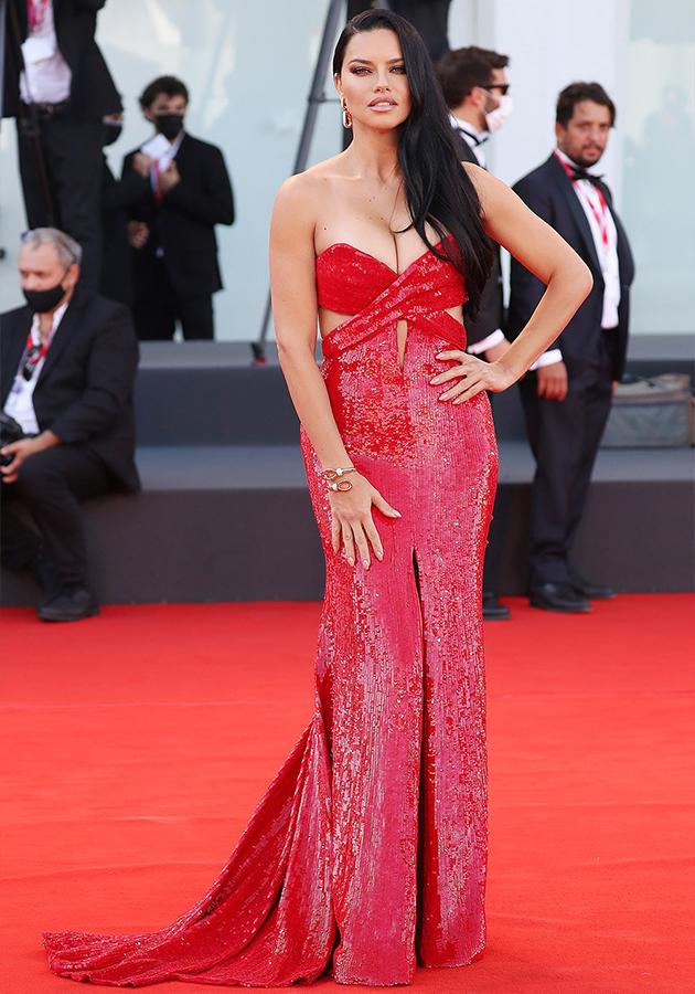Адриана Лима в платье Etro и украшениях Pomellato