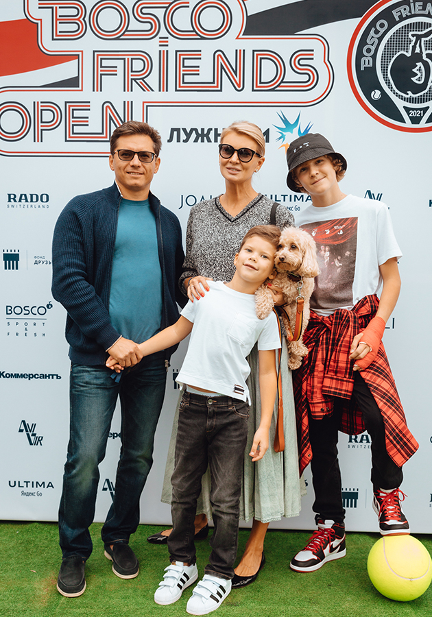 Виктория Борисевич с семьей