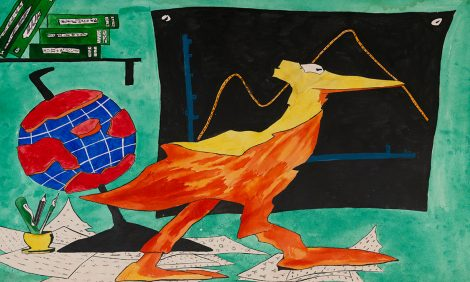 PostaКультура: выставка «Школа инженеров искусства. Вдали отравновесия» вгалерее ГУМ Red-Line