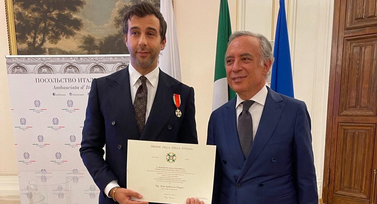 За что Иван Ургант получил орден Звезды Италии