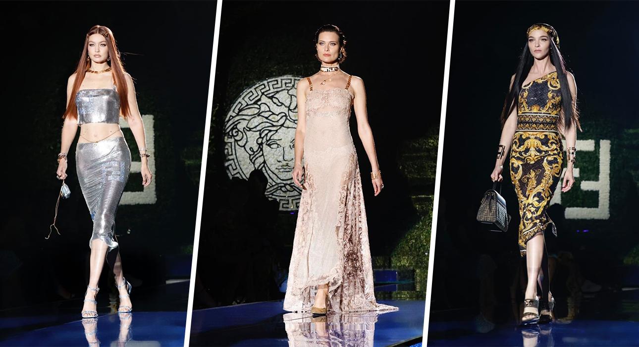 Fendace vs. Vendi: показ капсульной коллекции-коллаборации Домов Fendi и Versace
