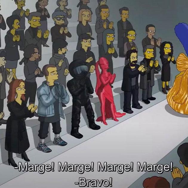 Дом Balenciaga представил новую коллекцию и… новый эпизод «Симпсонов»