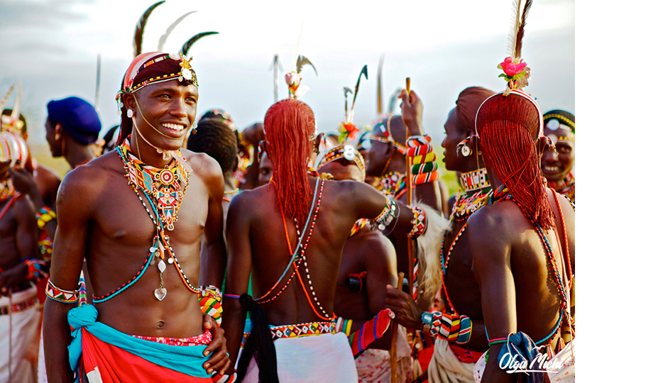 Ольга Мичи. Свадебная церемония племени самбуру. Национальный парк Самбуру, Кения