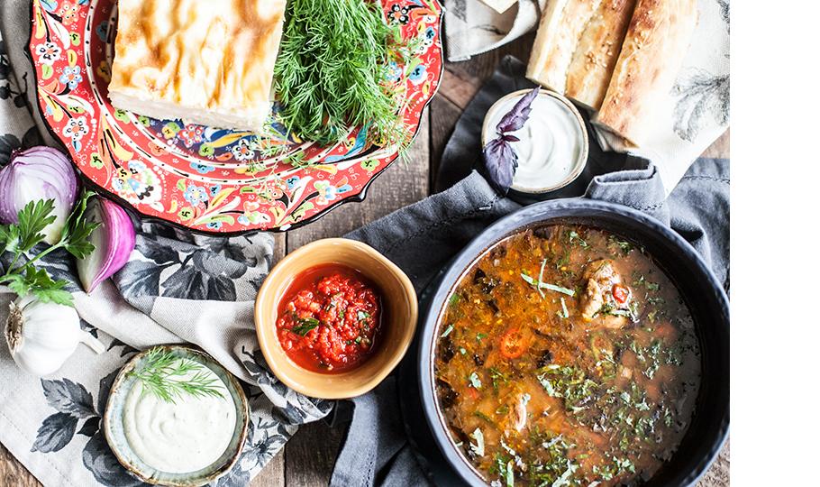 Ачма и суп харчо