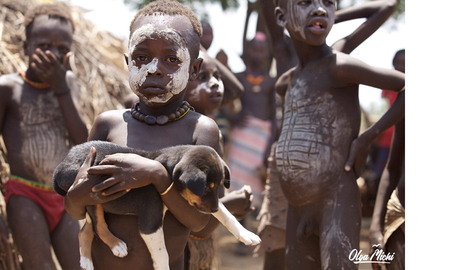 Ольга Мичи. Дети племени каро, Эфиопия
