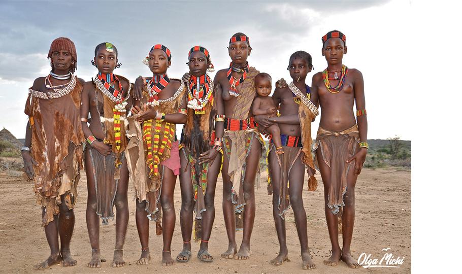 Ольга Мичи. Девушки племени хамер, Эфиопия