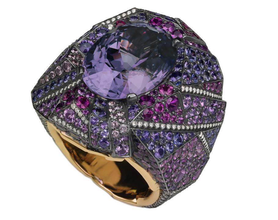 Кольцо Purple Pavilon