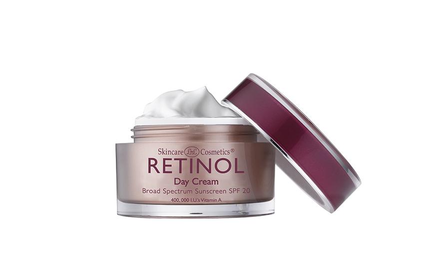Дневной увлажняющий крем сретинолом икомплексом витаминовС иЕ, SPF 20, Retinol, защищает кожу отнегативного воздействия UVA- иUVB-лучей, увлажняет, успокаивает, выравнивает тон засчет деликатной эксфолиации.