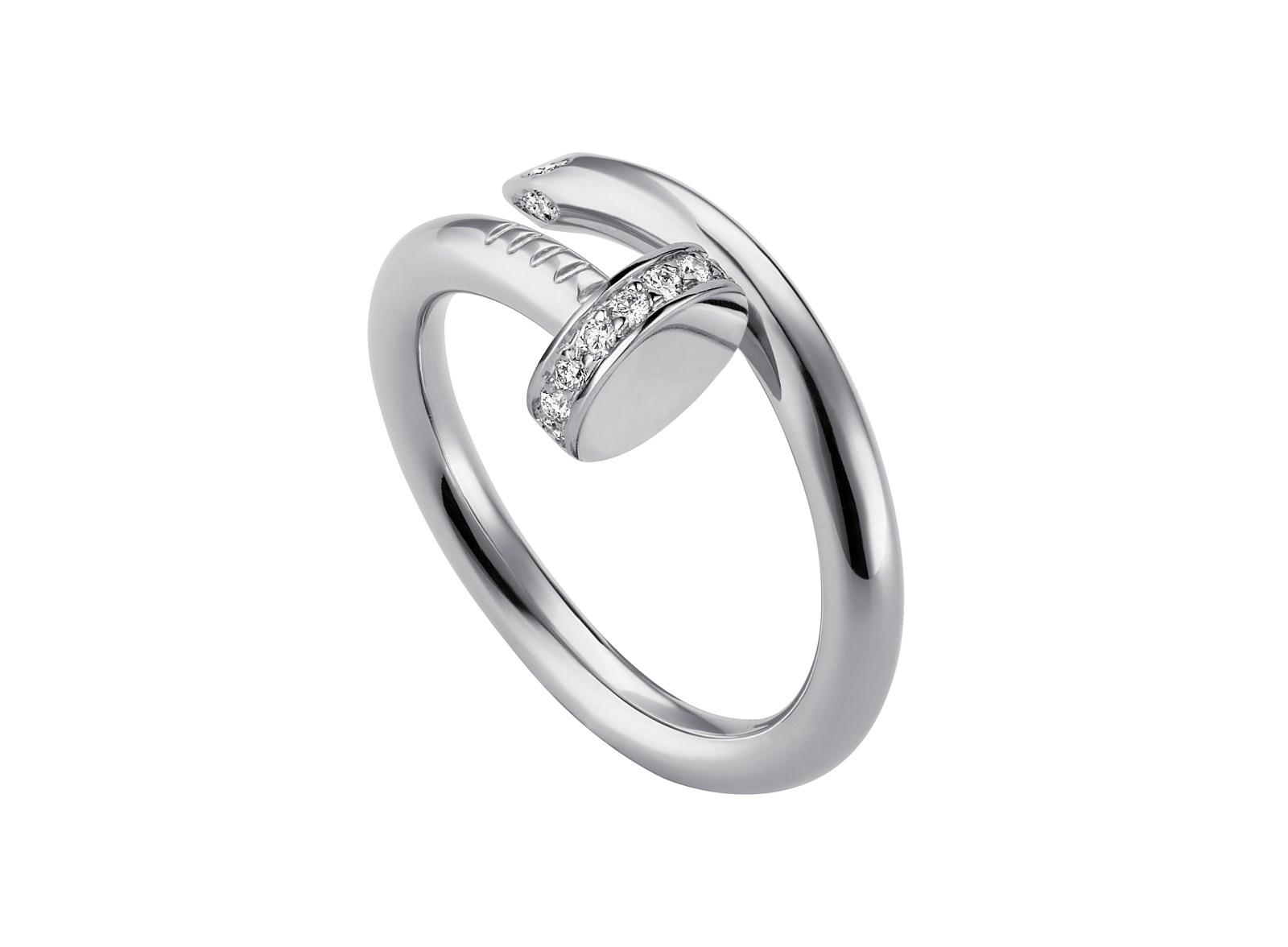 Кольцо из белого золота с бриллиантами Juste un Clou