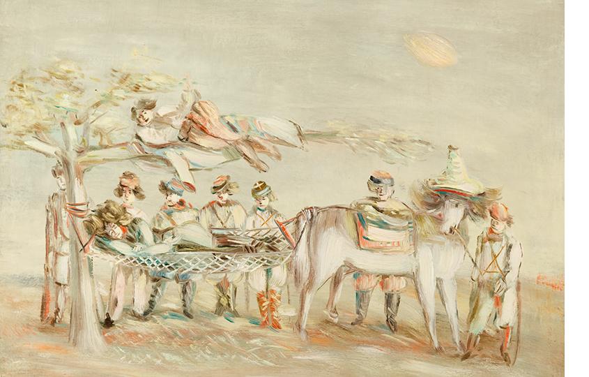 Александр Тышлер. Махно вгамаке.1927