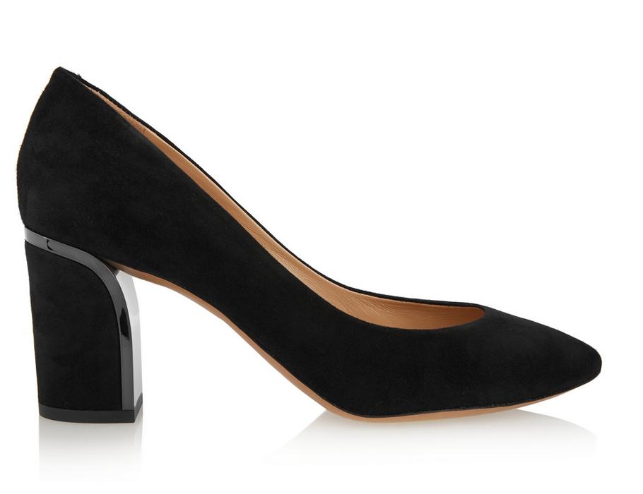 Замшевые туфли наустойчивом каблуке Chloé