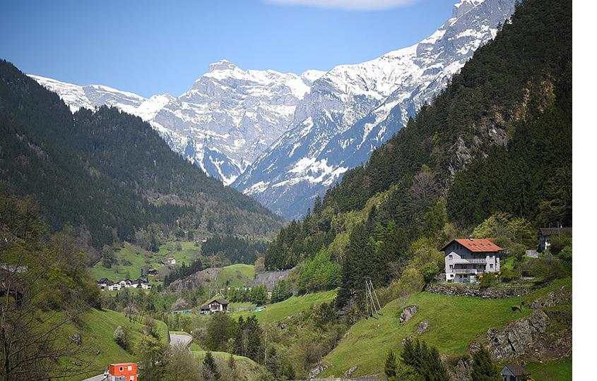 Напути следования поезда Gotthard Panorama Express, кантон Люцерн
