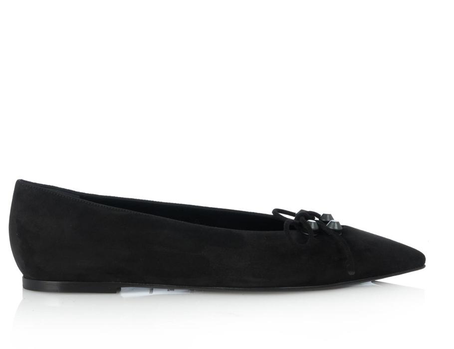 Замшевые туфли наплоской подошве Balenciaga