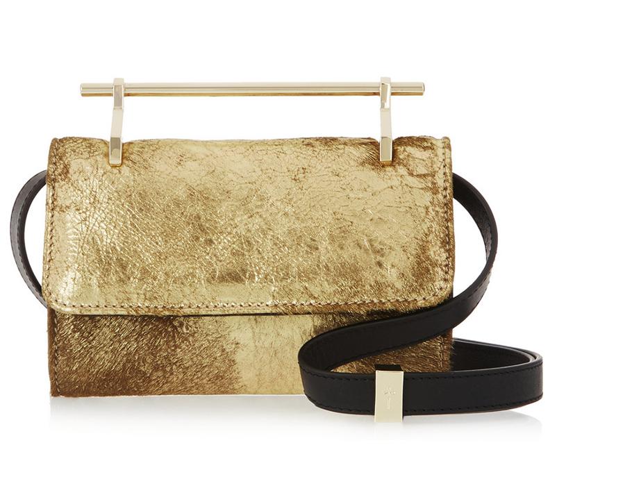 Миниатюрная вечерняя сумка с контрастным ремешком M2Malletier