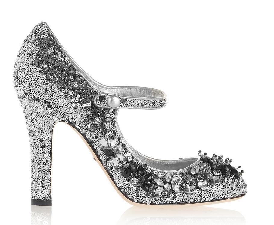 Расшитые пайетками истразами туфли Dolce &Gabbana