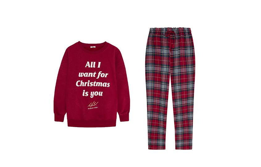 Пижама из рождественской коллекции Oysho