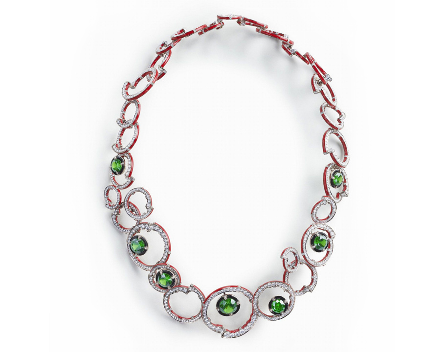 Ожерелье Composition Rouge et Verte