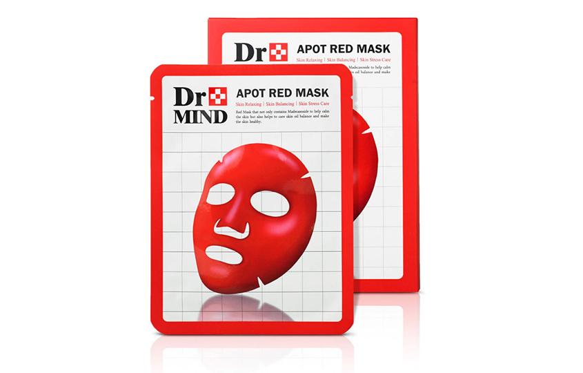 Тканевая маска для проблемной/жирной кожи Apot Red Mask, Dr.Mind