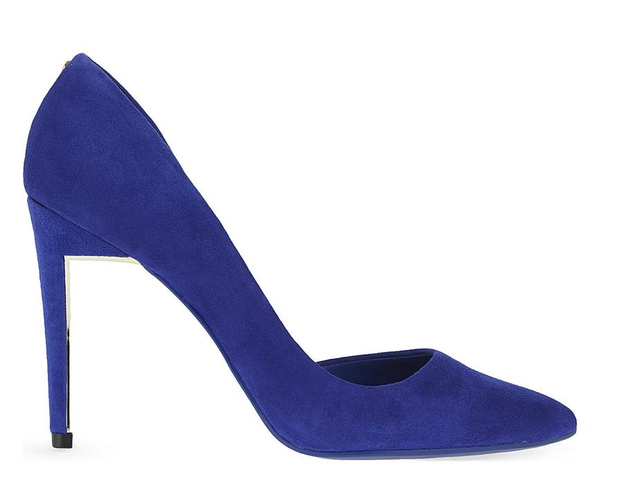 Синие замшевые туфли Ted Baker