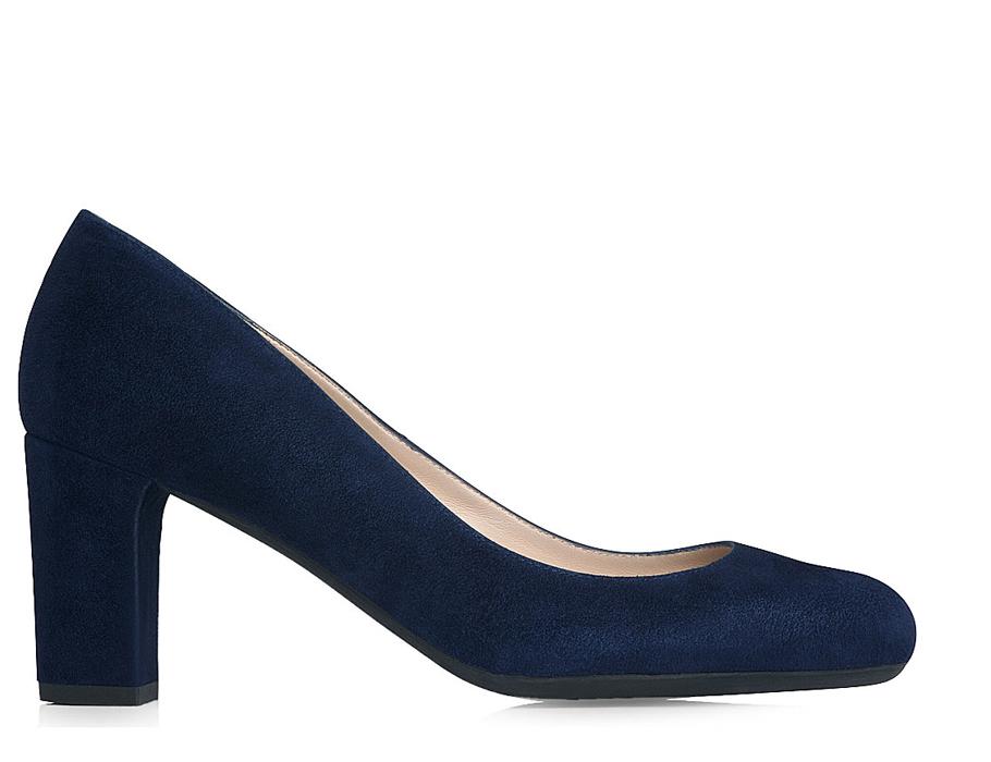 Бордовые замшевые туфли наустойчивом каблуке LKBennett