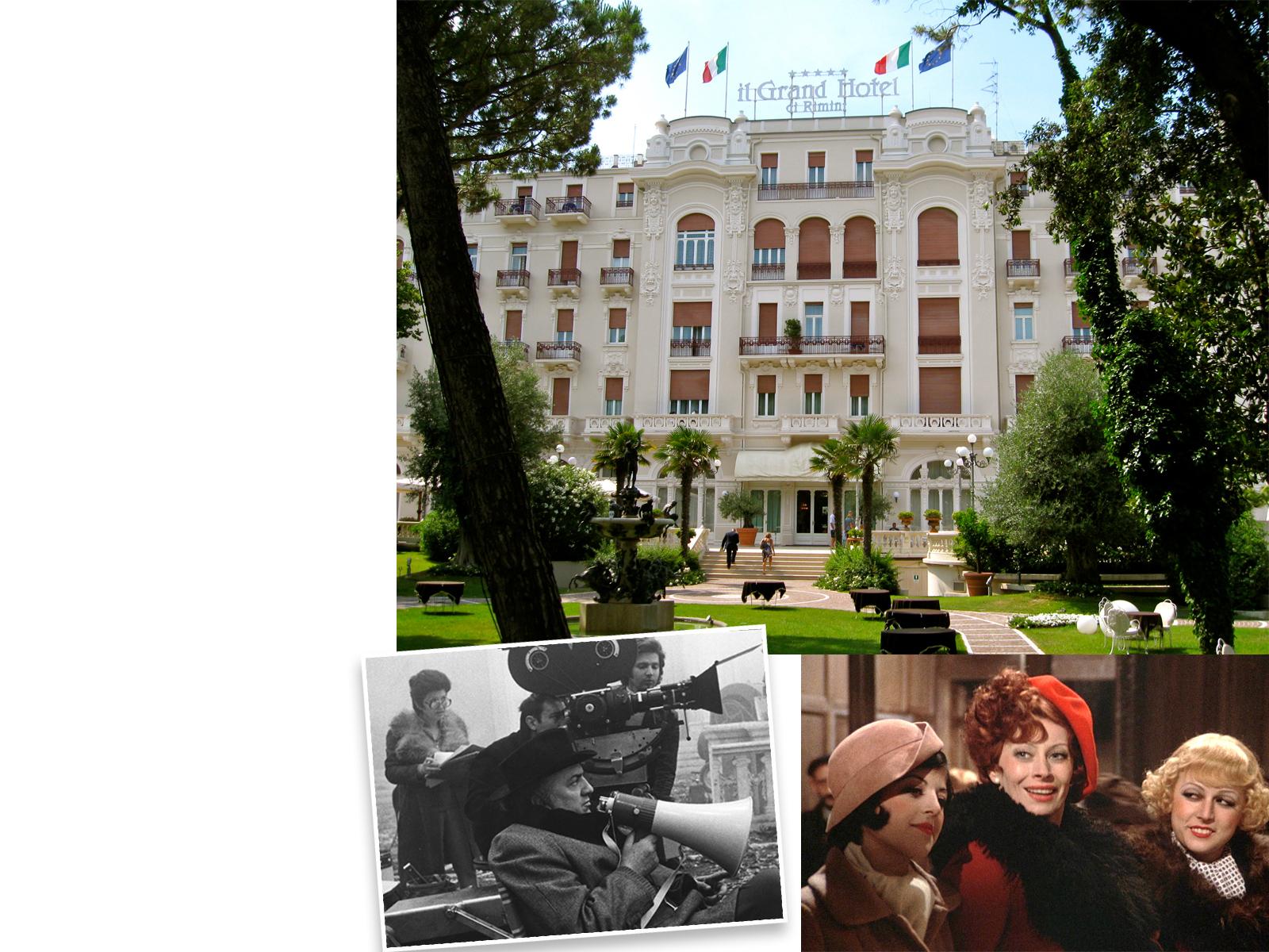 Grand Hotel, Римини: u00abАмаркордu00bb, режиссер Федерико ФеллиниКогда Феллини был еще совсем мальчишкой, он обожал заглядывать в ворота отеля и мечтать о dolce vita. Взрослым он стал почетным гостем роскошного отеля и провел там чуть ли не большую часть своей жизни.