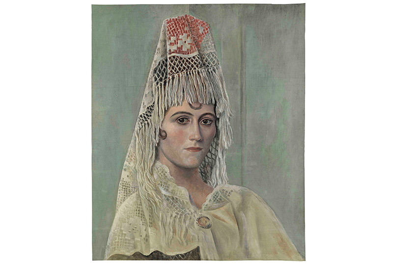 Ольга Хохлова вмантилье.1917