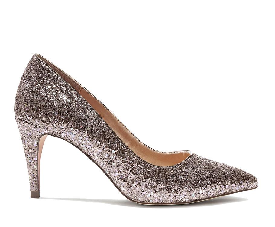 Туфли Next, декорированные золотисто-розовыми блестками