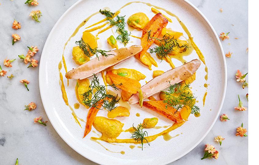 Утка, морковь, имбирь