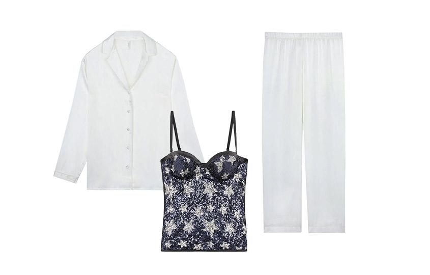 Шелковая пижама итоп изколлекции Сары Джессики Паркер иIntimissimi