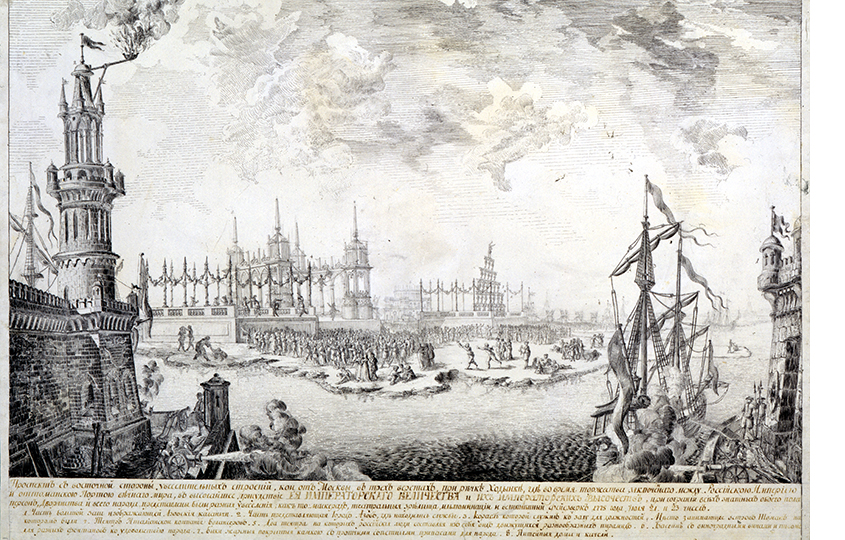 Матвей Казаков. Павильоны наХодынском лугу вМоскве, построенные для празднования мира сТурциеиu0306. 1775
