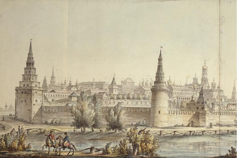 Джакомо Кваренги. Панорама Московского Кремля.1797